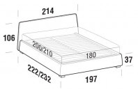Beds Calvin Maxi double bed with SLANT bed frame