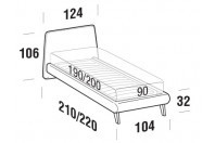 Beds Calvin Single bed with UP bed frame