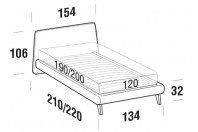 Beds Calvin French bed with UP bed frame