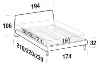 Beds Calvin Double bed with UP bed frame