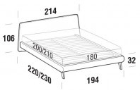 Beds Calvin Maxi double bed with UP bed frame