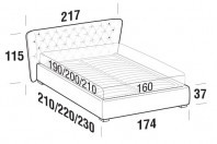 Beds Caravaggio Double bed with FLOOR bed frame