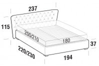 Beds Caravaggio Maxi double bed with FLOOR bed frame