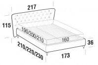 Beds Caravaggio Double bed with FLY bed frame