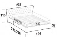 Beds Caravaggio Maxi double bed with BOX bed frame