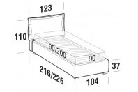 Beds Catlin Single bed with FLOOR bed frame