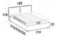 Beds Catlin Double bed with FLOOR bed frame