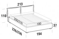 Beds Catlin Maxi double bed with FLOOR bed frame