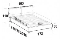 Beds Catlin Double bed with FLY bed frame