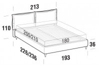 Beds Catlin Maxi double bed with FLY bed frame