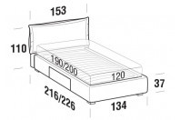 Beds Catlin French bed with BOX bed frame