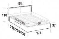 Beds Catlin Double bed with BOX bed frame