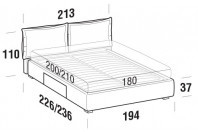 Beds Catlin Maxi double bed with BOX bed frame