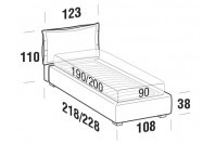 Beds Catlin Single bed with STRONG bed frame