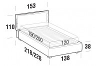 Beds Catlin French bed with STRONG bed frame