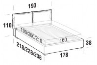 Beds Catlin Double bed with STRONG bed frame
