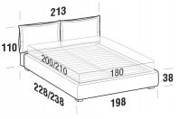 Beds Catlin Maxi double bed with STRONG bed frame