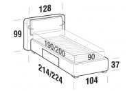 Beds Cortina Single bed with BOX bed frame