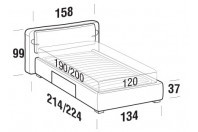 Beds Cortina French bed with BOX bed frame