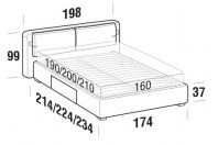 Beds Cortina Double bed with BOX bed frame