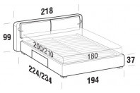 Beds Cortina Maxi double bed with BOX bed frame