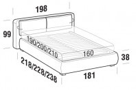 Beds Cortina Double bed with ROUND bed frame