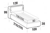 Beds Cortina Single bed with STRONG bed frame