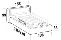 Beds Cortina French bed with STRONG bed frame