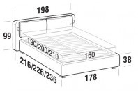 Beds Cortina Double bed with STRONG bed frame