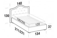 Beds Dama French bed with FLOOR bed frame