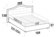 Beds Dama Maxi double bed with FLOOR bed frame