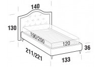 Beds Dama French bed with FLY bed frame