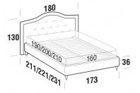 Beds Dama Double bed with FLY bed frame