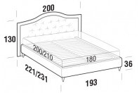 Beds Dama Maxi double bed with FLY bed frame