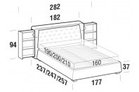 Beds Donovan Double bed with SLANT bed frame