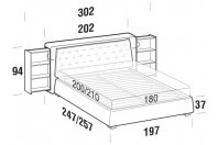 Beds Donovan Maxi double bed with SLANT bed frame