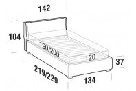 Beds Fris French bed with FLOOR bed frame