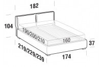 Beds Fris Double bed with FLOOR bed frame