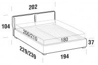 Beds Fris Maxi double bed with FLOOR bed frame