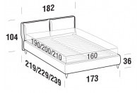 Beds Fris Double bed with FLY bed frame