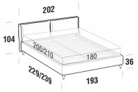 Beds Fris Maxi double bed with FLY bed frame
