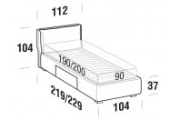 Beds Fris Single bed with BOX bed frame