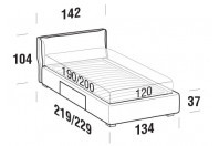 Beds Fris French bed with BOX bed frame