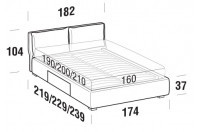 Beds Fris Double bed with BOX bed frame