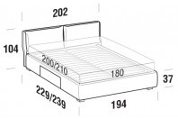 Beds Fris Maxi double bed with BOX bed frame