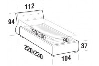 Beds Gap Single bed with FLOOR bed frame