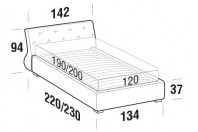 Beds Gap French bed with FLOOR bed frame
