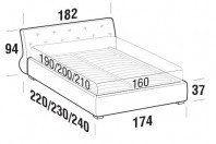 Beds Gap Double bed with FLOOR bed frame