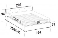 Beds Gap Maxi double bed with FLOOR bed frame