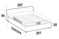 Beds Gap Maxi double bed with ROUND bed frame